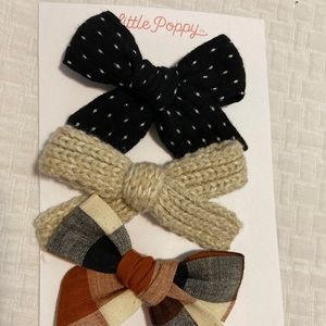 NWT little poppy co October 2019 bows